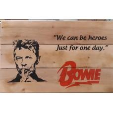 Wandbord Bowie 25x45 cm handmade - hout